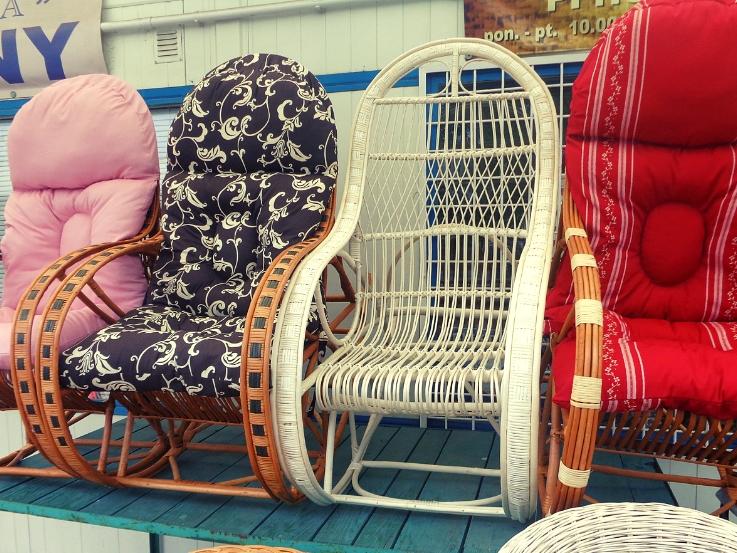 fotele bujane wiklinowe