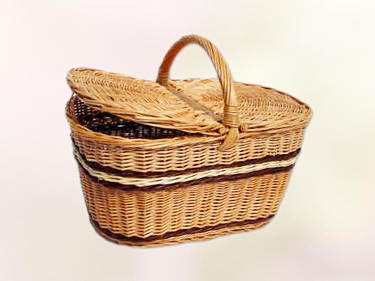 kosz piknikowy wiklinowy